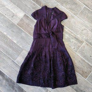 Adrianna Papell Purple Rosette Bow Bridesmaid 14